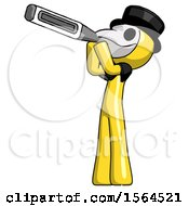 Yellow Plague Doctor Man Thermometer In Mouth