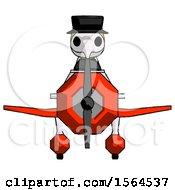 Yellow Plague Doctor Man In Geebee Stunt Plane Front View