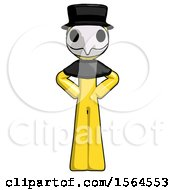 Yellow Plague Doctor Man Hands On Hips