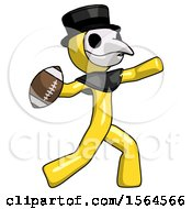 Yellow Plague Doctor Man Throwing Football