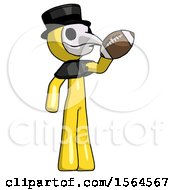 Yellow Plague Doctor Man Holding Football Up