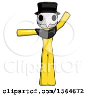 Yellow Plague Doctor Man Directing Traffic Left by Leo Blanchette