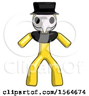 Yellow Plague Doctor Male Sumo Wrestling Power Pose