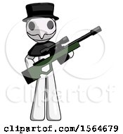 May 22nd, 2018: White Plague Doctor Man Holding Sniper Rifle Gun by Leo Blanchette