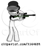 May 22nd, 2018: White Plague Doctor Man Shooting Sniper Rifle by Leo Blanchette