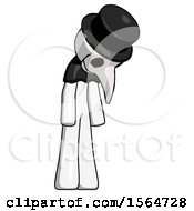 May 23rd, 2018: White Plague Doctor Man Depressed With Head Down Turned Right by Leo Blanchette