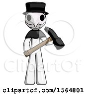 May 24th, 2018: White Plague Doctor Man Holding Hammer Ready To Work by Leo Blanchette