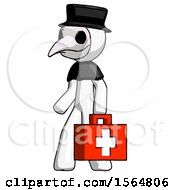 May 23rd, 2018: White Plague Doctor Man Walking With Medical Aid Briefcase To Left by Leo Blanchette