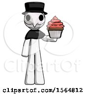 May 23rd, 2018: White Plague Doctor Man Presenting Pink Cupcake To Viewer by Leo Blanchette