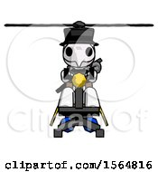 May 23rd, 2018: White Plague Doctor Man Flying In Gyrocopter Front View by Leo Blanchette