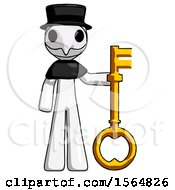 May 23rd, 2018: White Plague Doctor Man Holding Key Made Of Gold by Leo Blanchette