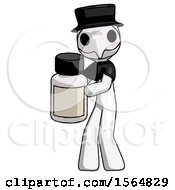 May 23rd, 2018: White Plague Doctor Man Holding White Medicine Bottle by Leo Blanchette