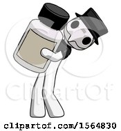 May 23rd, 2018: White Plague Doctor Man Holding Large White Medicine Bottle by Leo Blanchette