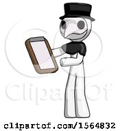 White Plague Doctor Man Reviewing Stuff On Clipboard