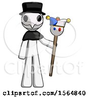 May 23rd, 2018: White Plague Doctor Man Holding Jester Staff by Leo Blanchette