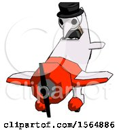 White Plague Doctor Man In Geebee Stunt Plane Descending Front Angle View