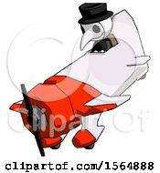 White Plague Doctor Man In Geebee Stunt Plane Descending View