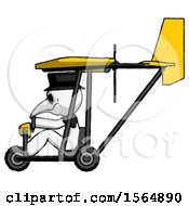 May 23rd, 2018: White Plague Doctor Man In Ultralight Aircraft Side View by Leo Blanchette