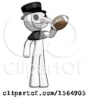 May 23rd, 2018: White Plague Doctor Man Holding Football Up by Leo Blanchette
