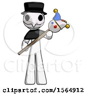 May 23rd, 2018: White Plague Doctor Man Holding Jester Diagonally by Leo Blanchette
