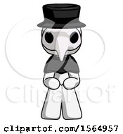 May 24th, 2018: White Plague Doctor Man Squatting Facing Front by Leo Blanchette