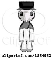 May 24th, 2018: White Plague Doctor Man Kneeling Front Pose by Leo Blanchette