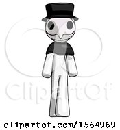 May 24th, 2018: White Plague Doctor Man Walking Front View by Leo Blanchette