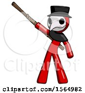 May 24th, 2018: Red Plague Doctor Man Bo Staff Pointing Up Pose by Leo Blanchette