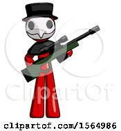 May 24th, 2018: Red Plague Doctor Man Holding Sniper Rifle Gun by Leo Blanchette
