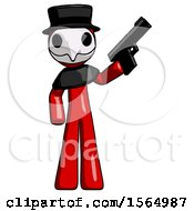 May 24th, 2018: Red Plague Doctor Man Holding Handgun by Leo Blanchette