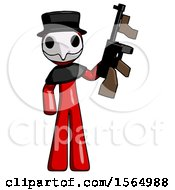 May 24th, 2018: Red Plague Doctor Man Holding Tommygun by Leo Blanchette