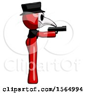 May 24th, 2018: Red Plague Doctor Man Firing A Handgun by Leo Blanchette