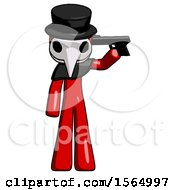 May 24th, 2018: Red Plague Doctor Man Suicide Gun Pose by Leo Blanchette
