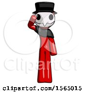 May 24th, 2018: Red Plague Doctor Man Soldier Salute Pose by Leo Blanchette