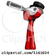 Red Plague Doctor Man Thermometer In Mouth