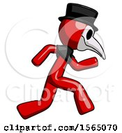 May 24th, 2018: Red Plague Doctor Man Running Fast Right by Leo Blanchette