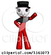 May 24th, 2018: Red Plague Doctor Man Waving Left Arm With Hand On Hip by Leo Blanchette
