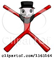 May 24th, 2018: Red Plague Doctor Man With Arms And Legs Stretched Out by Leo Blanchette