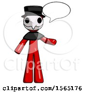 May 24th, 2018: Red Plague Doctor Man With Word Bubble Talking Chat Icon by Leo Blanchette