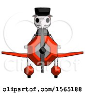 Red Plague Doctor Man In Geebee Stunt Plane Front View