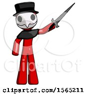 May 24th, 2018: Red Plague Doctor Man Holding Sword In The Air Victoriously by Leo Blanchette