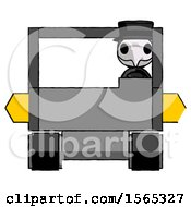 Purple Plague Doctor Man Driving Amphibious Tracked Vehicle Front View