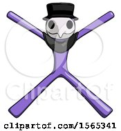 Purple Plague Doctor Man With Arms And Legs Stretched Out