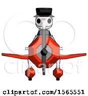 Purple Plague Doctor Man In Geebee Stunt Plane Front View