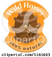 Clipart Of A Honey Bee Hive With Text Royalty Free Vector Illustration