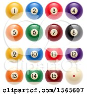 Clipart Of Billiards Pool Balls Royalty Free Vector Illustration