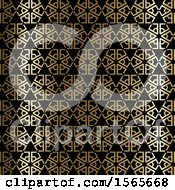 Gold And Black Art Deco Styled Pattern