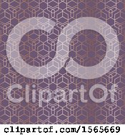 Gold And Purple Geometric Pattern