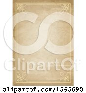 Clipart Of A Vintage Paper And Frame Background Royalty Free Vector Illustration