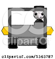 Pink Plague Doctor Man Driving Amphibious Tracked Vehicle Front View